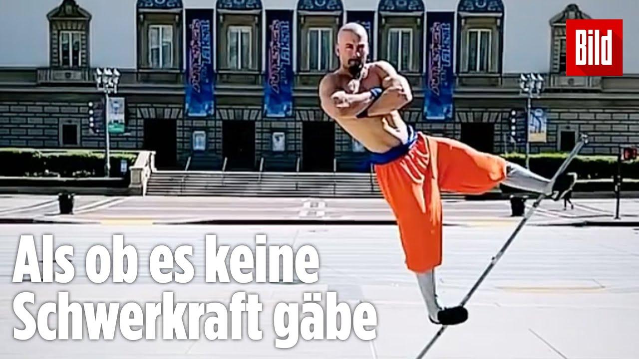"Shaolin-Mönch ""schwebt"" über den Boden"