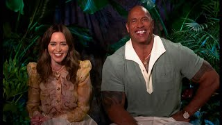 Emily Blunt & Dwayne Johnson have a fun and laughs interview (UK) - BBC - 21st July 2021