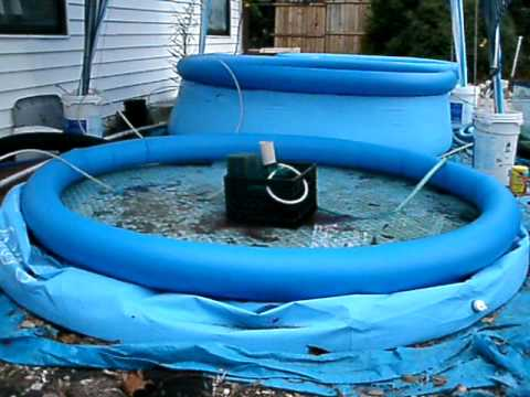 Koi bubble filter for my three aboveground pools part one for Pool to koi pond conversion