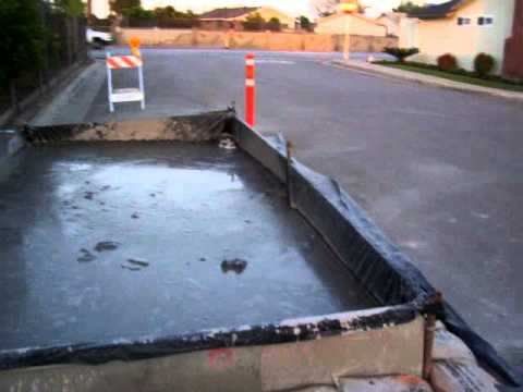 April 14 2011 City of Buena Park Contractor RJ Noble Company Concrete Washout box overflow