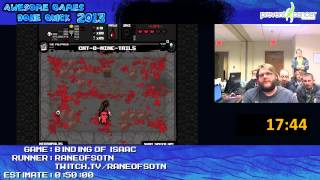 The Binding of Isaac by RaneofSOTN Live for Awesome Games Done Quick 2013 (EPIC reaction lol)