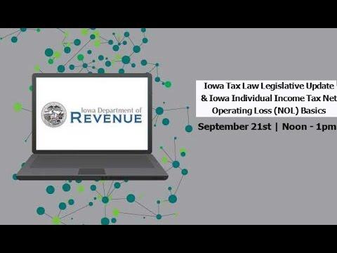2016 Iowa Tax Legislative Update: Individual Income Tax Net Operating Losses (NOLs)