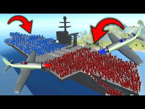 1000 BOTS ON THE AIRCRAFT CARRIER! - RAVENFIELD MASSIVE BATTLE!