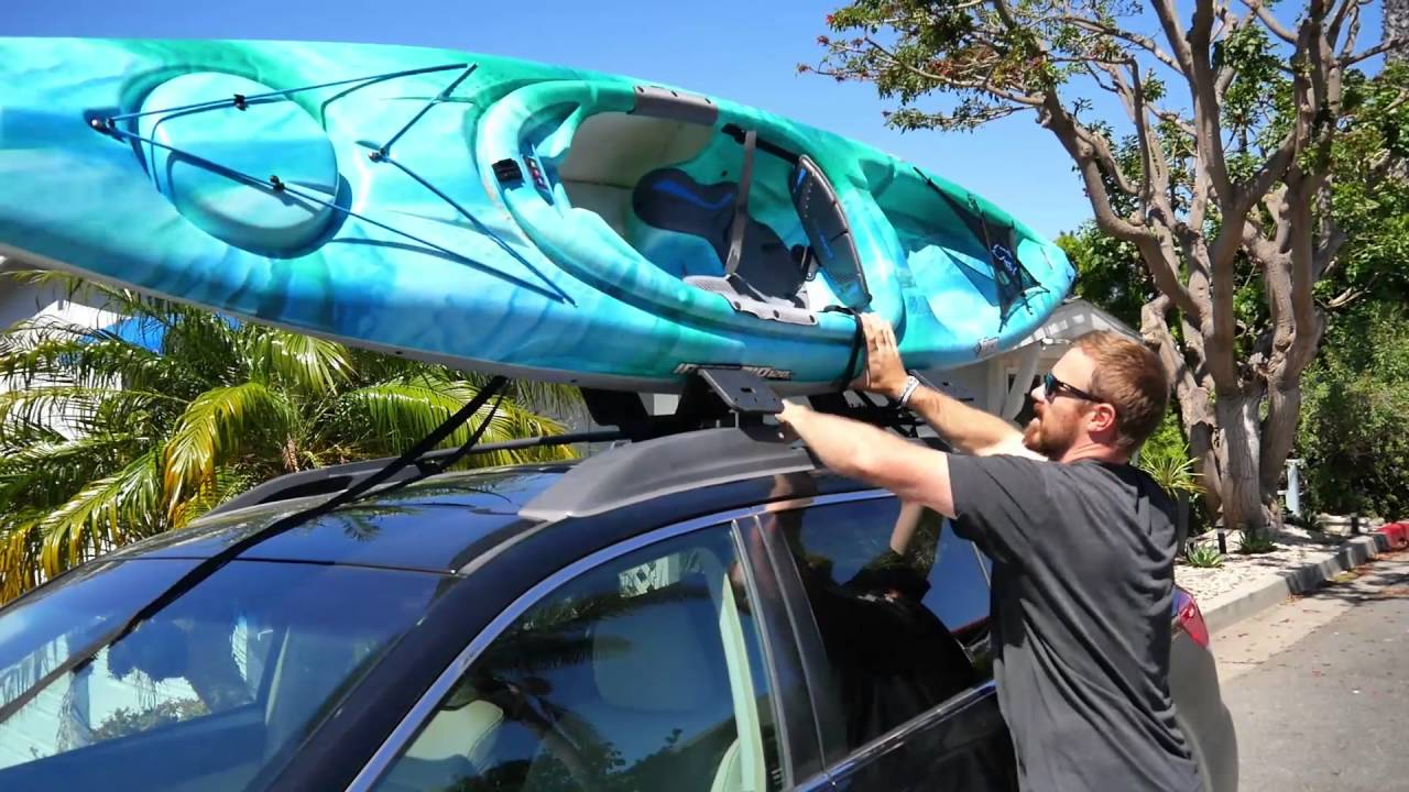 How To Transport A Kayak Youtube