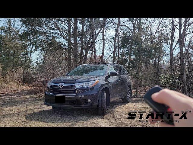 Start-X Toyota Highlander PTS Remote Start Install, long version.