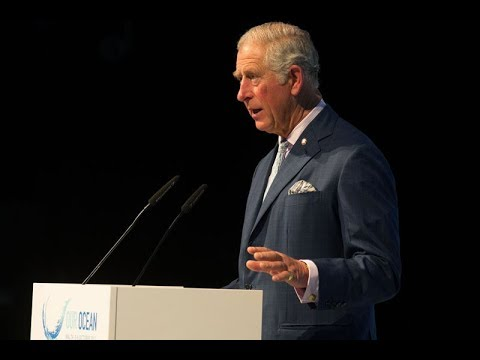 The Prince of Wales delivers a speech at the Our Ocean Conference in Malta