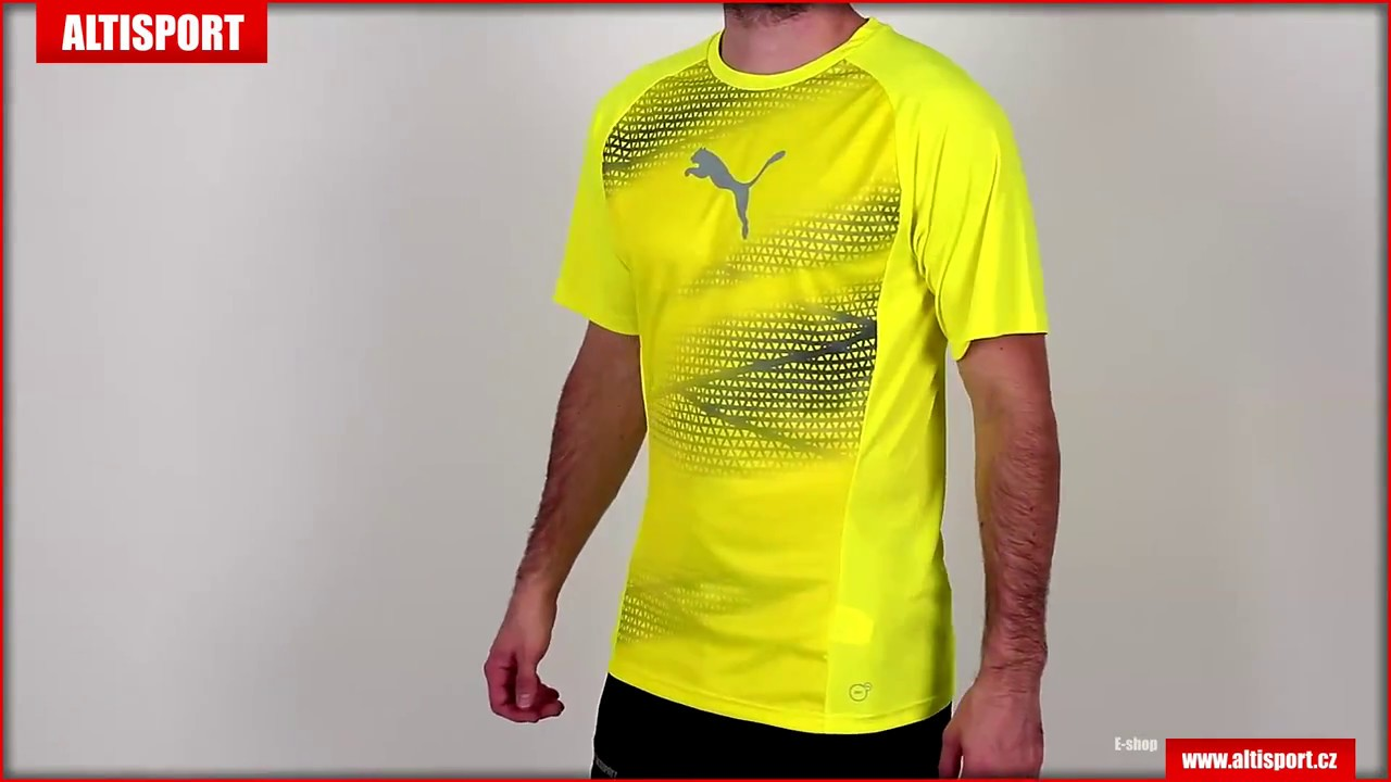 pánské funkční tričko puma evotrg graphic tee 65533503 safety yellowquarry e8737c5e9e