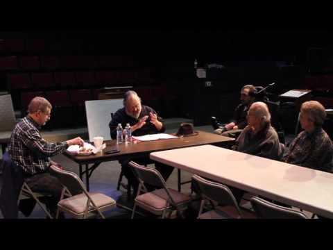 Hollywood actor Walter Williamson reads from his play