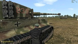 20 Tigers vs 60 Sherman Tanks ! Huge Tank Battle from WW2 Simulator Game Iron Front 1944