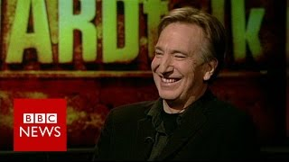 Alan Rickman on importance of listening when acting (2010) - BBC News