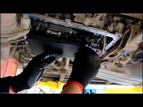 Mitsubishi Pajero 2008 Мицубиси Паджеро 3,2 литра Замена масла и фильтра в АКПП автомат