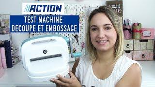 TEST • ACTION : MACHINE A DÉCOUPER & EMBOSSER (Dupe Big Shot) | Pnixie