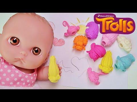 Куклы Пупсики. Открываем Тролластики Пятерочка - Сюрпризы Ластики Тролли Зырики ТВ Игрушки