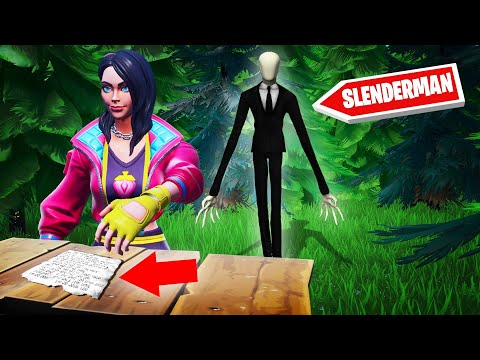 Playing SLENDERMAN In FORTNITE! (Escape The Forest)