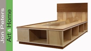 Trim, Veneer & Finish A Platform Bed With Storage Part 2