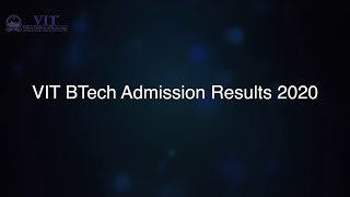 VIT BTech Admission Results 2020