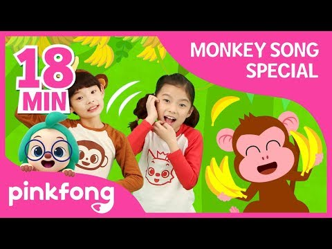 five-little-monkeys-and-more-|-fun-monkey-songs-|-+compilation-|-pinkfong-songs-for-children