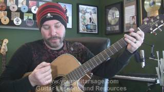 Play Video 'Desolation Row Guitar Lessons for Beginners Acoustic songs'