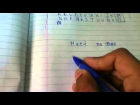 How to write in CODE ( Spy ) language ( Easiest and one of the best method ) | English |