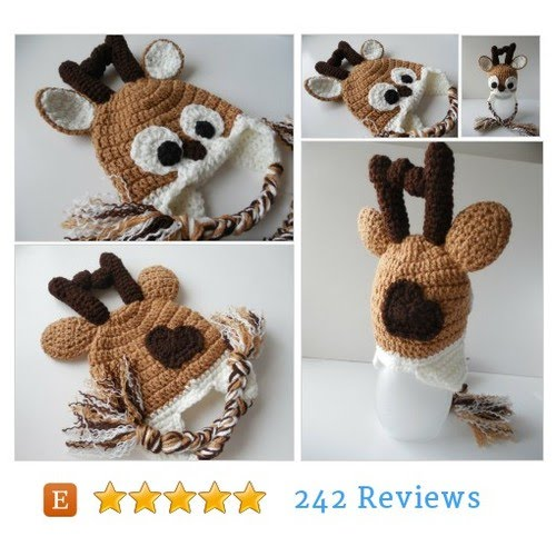 Crochet Reindeer Hat Photo Prop - Handmade Crochet - - YouTube f955f078f96