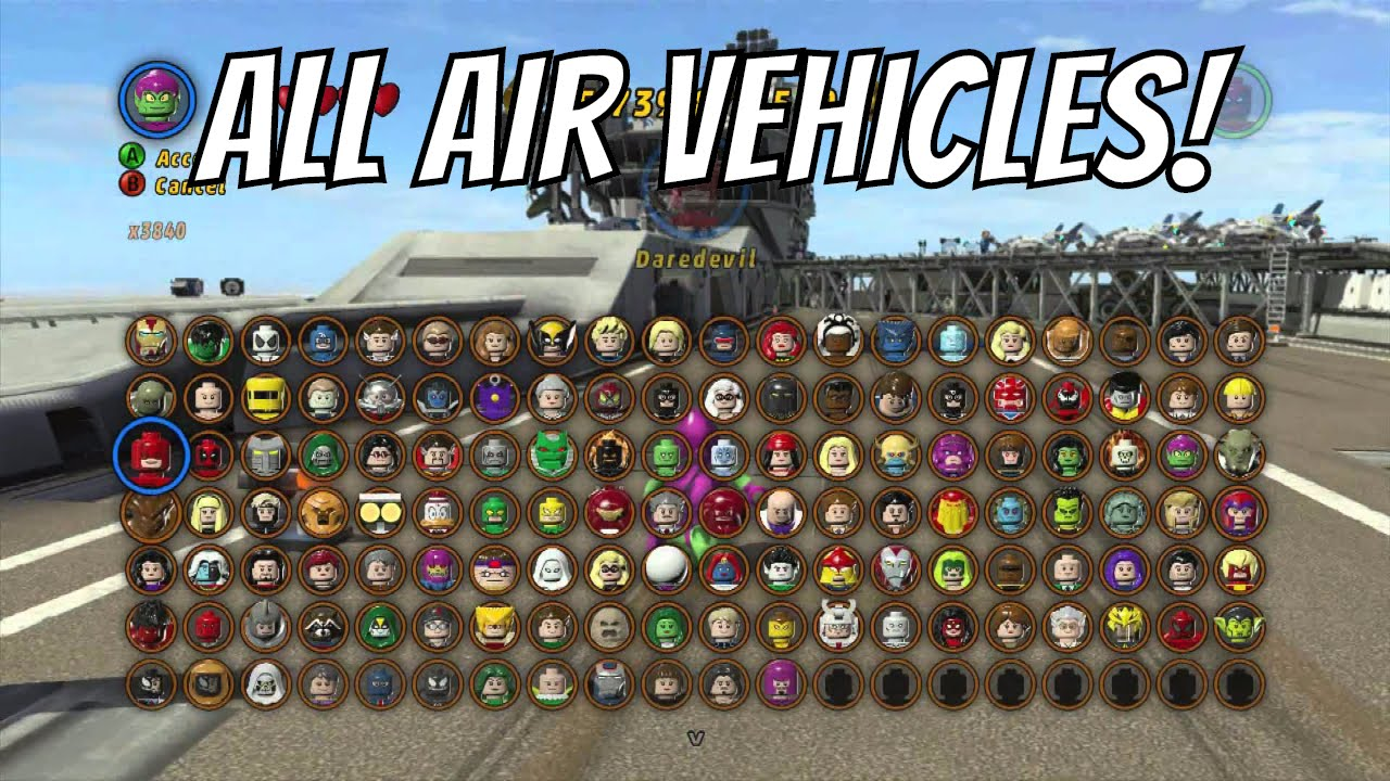 Lego Marvel Superheroes A Look At All The Air Vehicles With