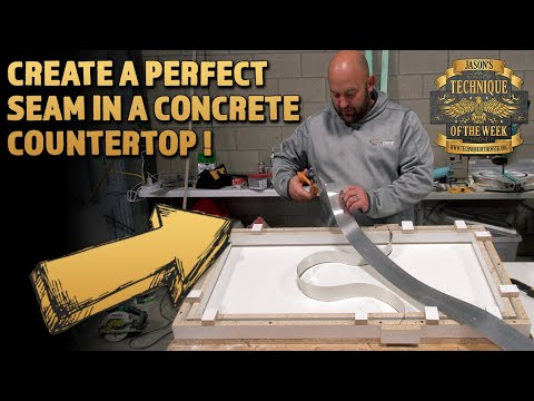 hqdefault - How to Create a Perfect Seam in a Concrete Countertop! - Concrete Floor Pros