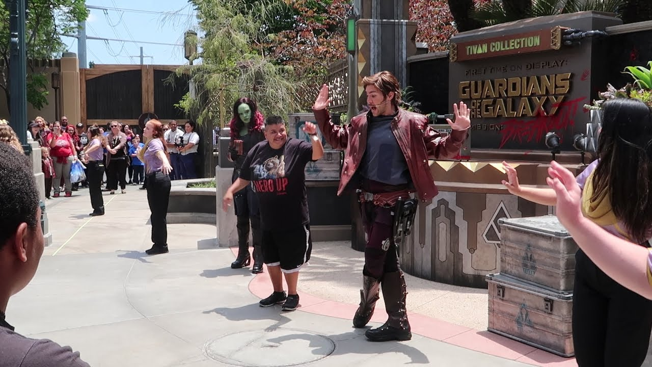 Image result for guardians of the galaxy dance off disneyland