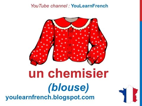 French Lesson 34 - CLOTHES in French CLOTHING Vocabulary - L