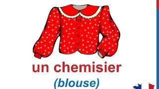 French Lesson 34 - CLOTHES in French CLOTHING Vocabulary - Les vêtements les habits Ropa en francés