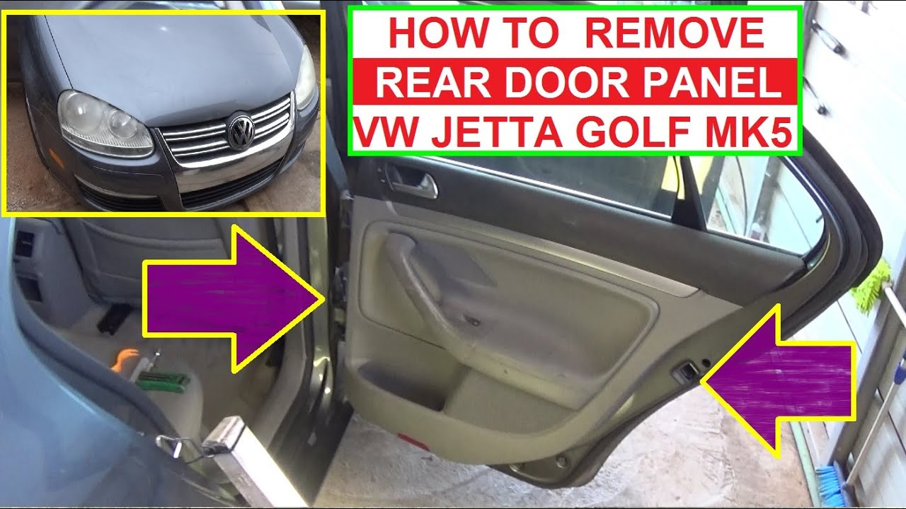 How To Remove Replace Rear Left Or Rear Right Door Panel
