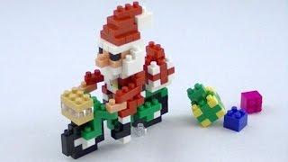 Santa Claus On The Bicycle Nanoblock Merry Christmas Lego