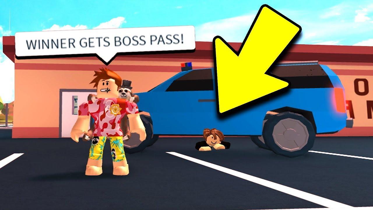 IF YOU WIN, I BUY YOU BOSS GAMEPASS! (Roblox Jailbreak)