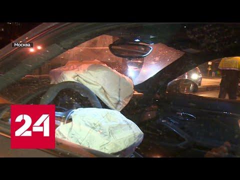 У автохама на Porsche, протаранившего такси в Москве, - семьсот штрафов - Россия 24