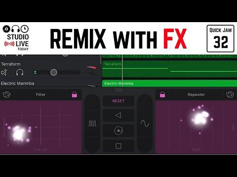 Use FX to Remix Tracks in GarageBand iOS (iPhone/iPad) - Quick Jam #32