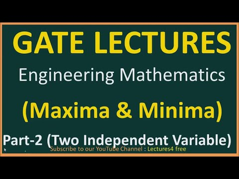 Maxima & Minima Part-2 (Two independent Variable)    Engineering Mathematics for GATE