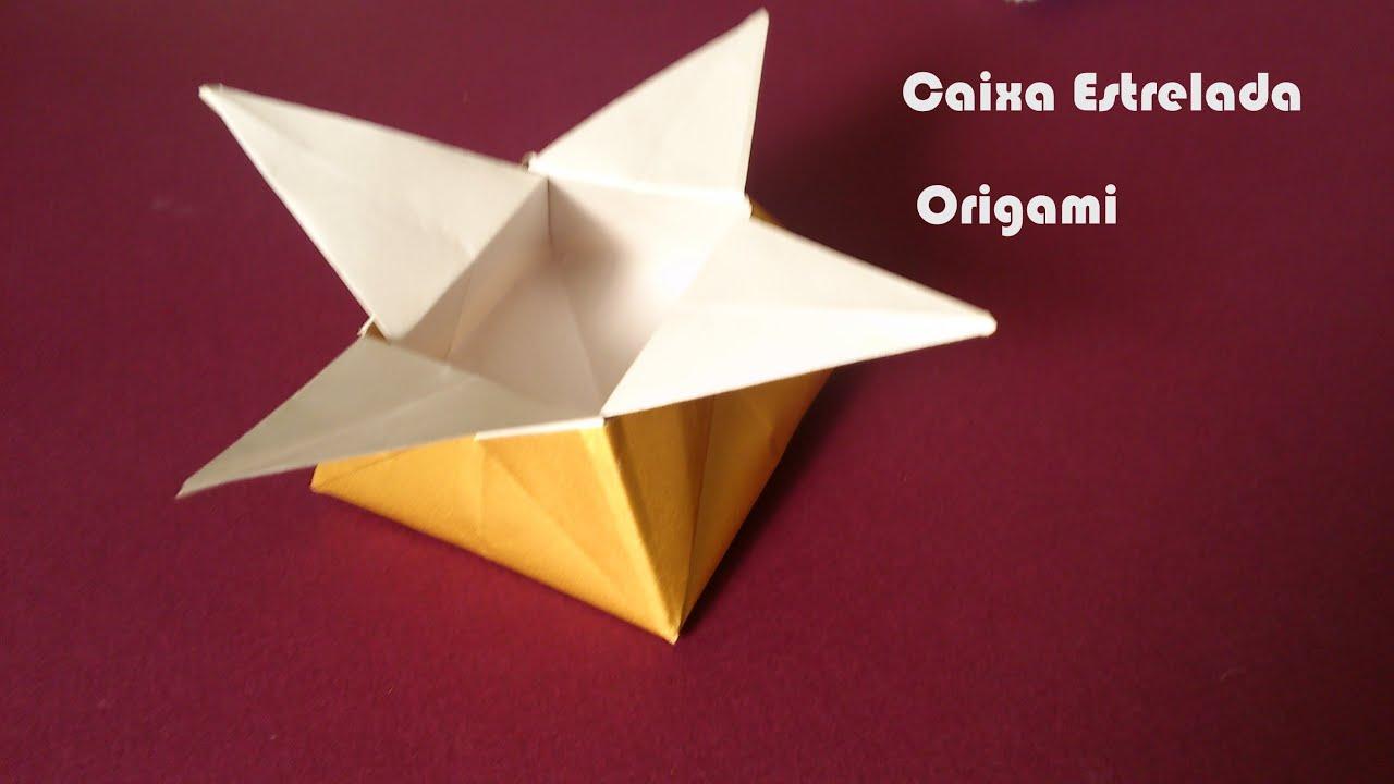 Caixa De Papel Estrela Origami Youtube