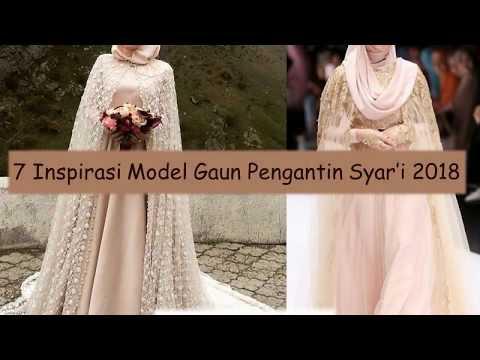 7 inspirasi model gaun pengantin syar'i 2018
