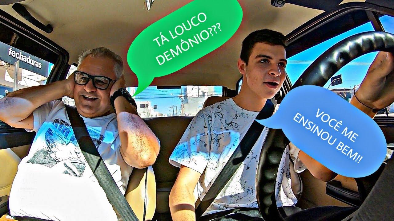 LEVEI MEU INSTRUTOR DA AUTO-ESCOLA PARA UM ROLE SU1CIDA DE GOL QUADRADO!!!!(DEIXEI ELE PRA TRAZ😂😂)