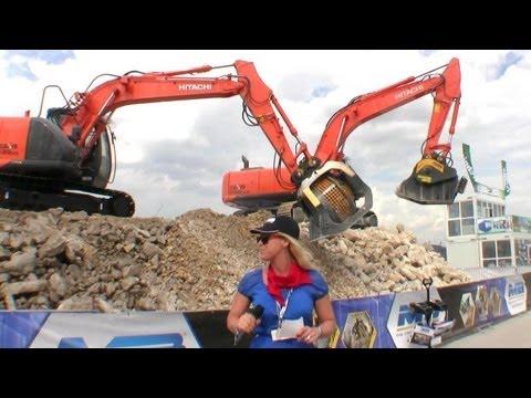 MB Crusher And Screening Bucket Demo @ Bauma 2013