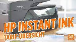 HP Instant Ink Tarife vorgestellt - Deutsch / German