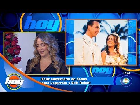 ¡Andrea Legarreta celebra 19 años de matrimonio con emotivo regalo de Erik Rubín!   La Nube   Hoy
