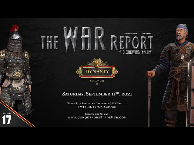 Battle 17: The War Report of Cloudwing Valley (NA-West)
