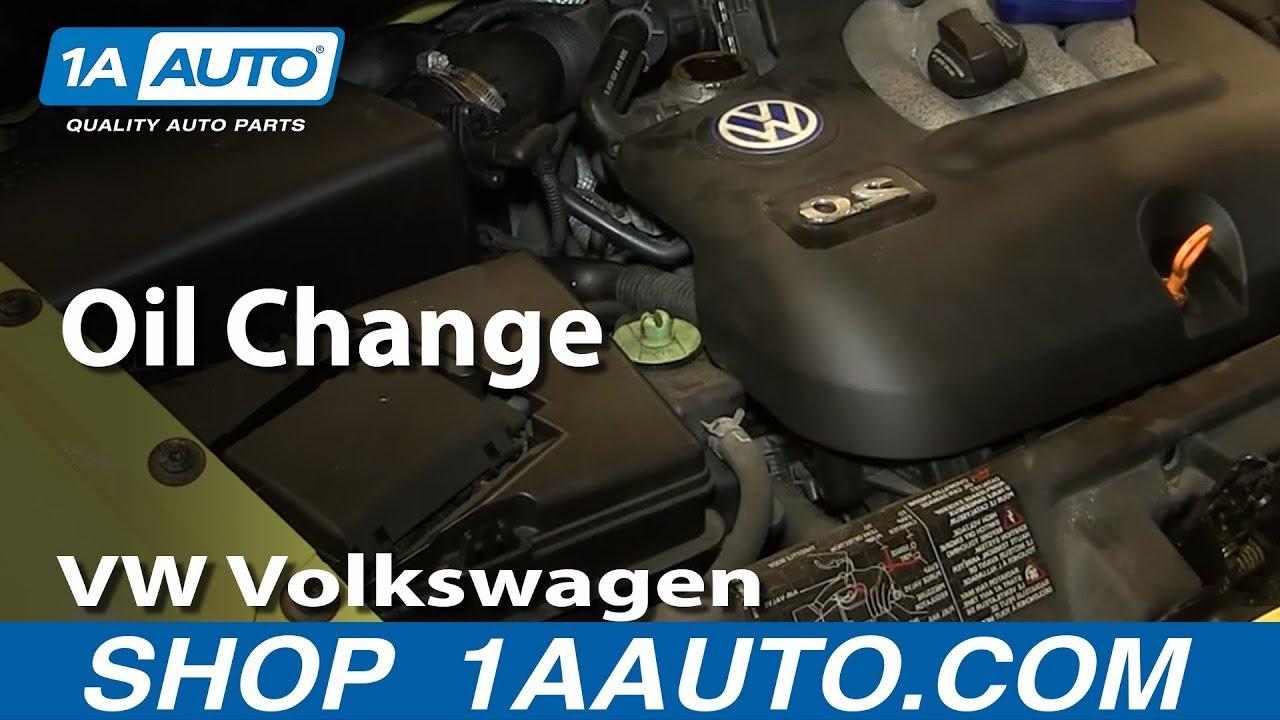 how to do an oil change 1 8t 1998 10 vw volkswagen beetle [ 1280 x 720 Pixel ]