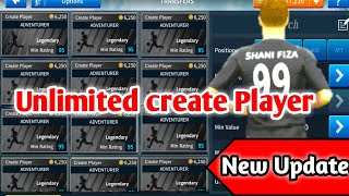 Dream League Soccer 2019 Unlimited Create players