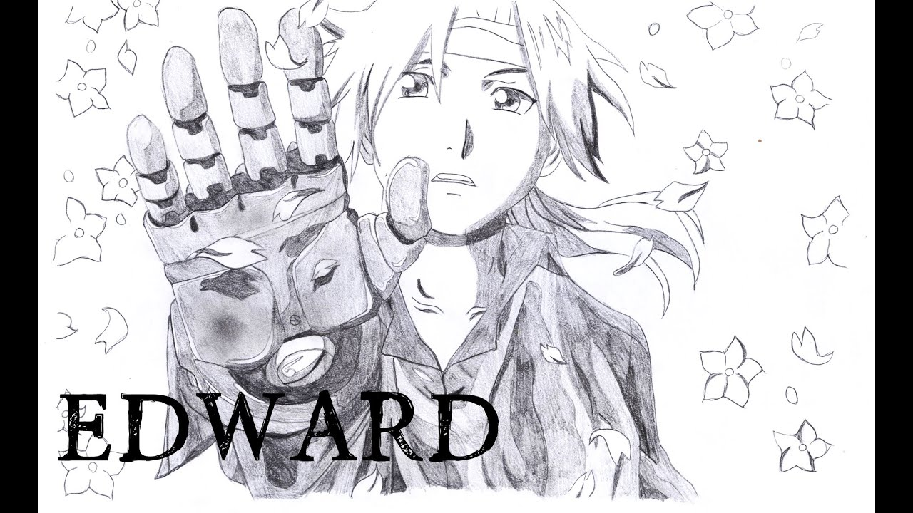 How I Draw Edward Elric From Fullmetal Alchemist Youtube