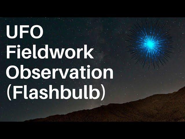 UFO Fieldwork Observation: Flashbulbs