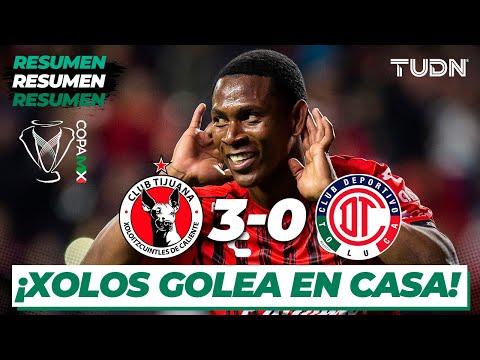 Resumen y Goles   Xolos 3 - 0 Toluca   Copa Mx - Semifinal Ida   TUDN