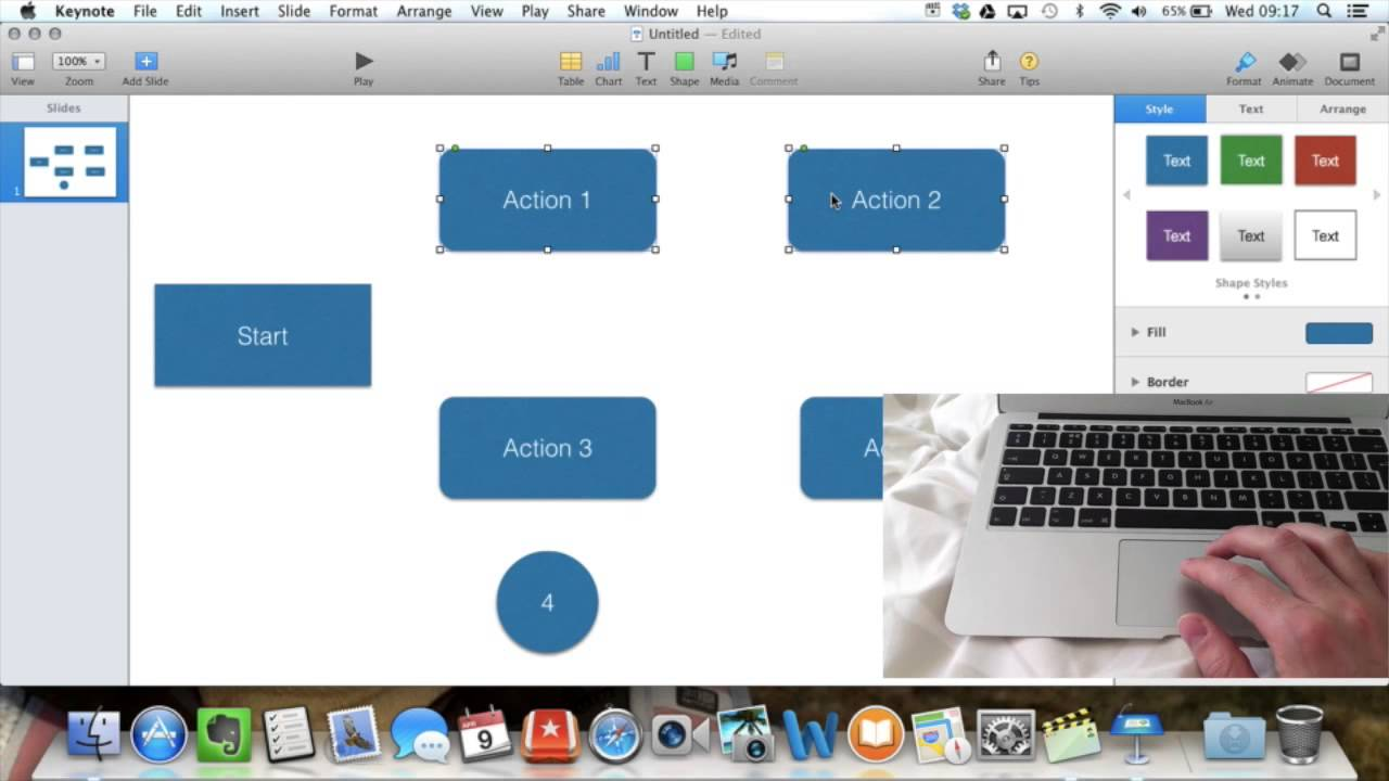 Making a Flowchart with iWork - YouTube