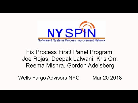 NY SPIN: Fix Process First! Joe Rojas, Kris Orr, Lalwani, Reema Mishra, Gordon Adelsberg