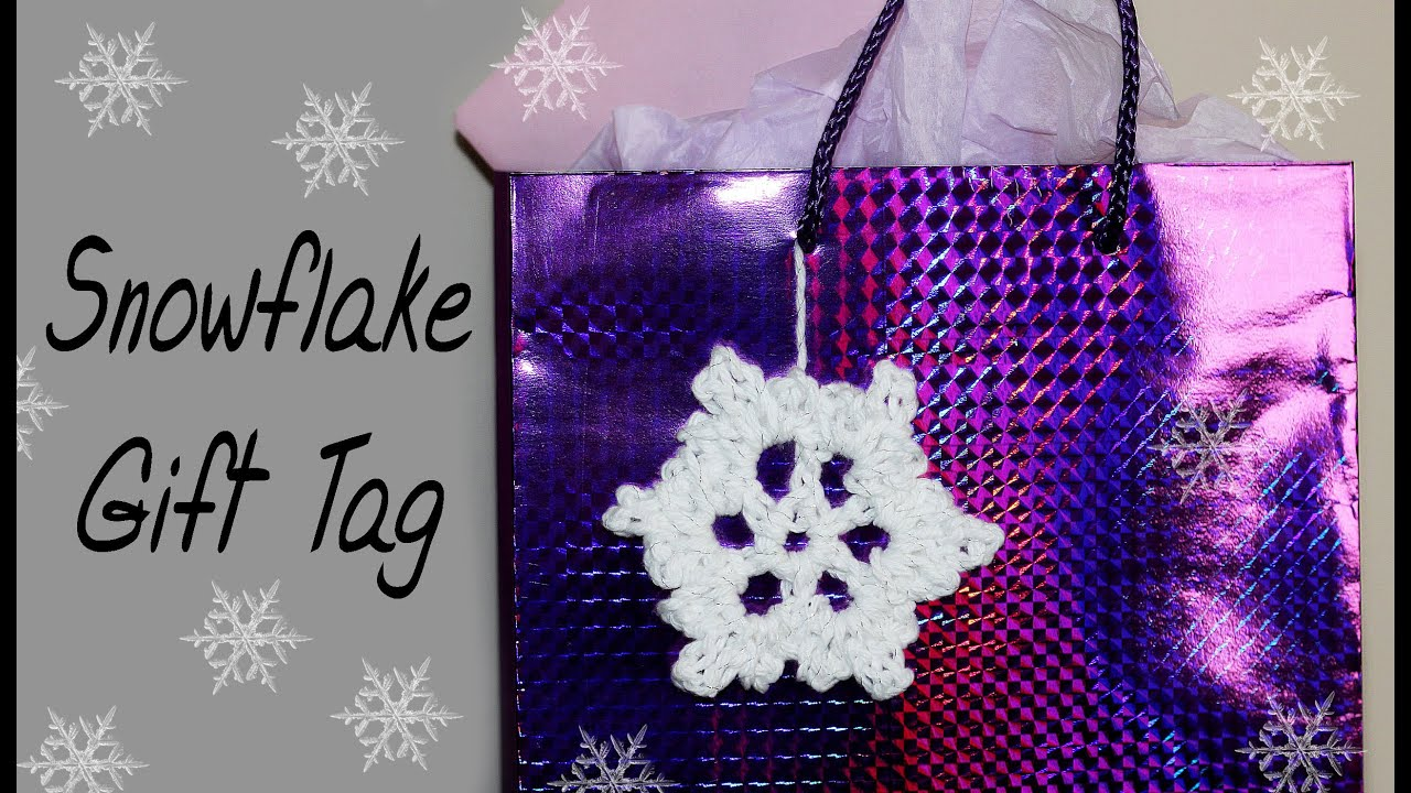 Crochet Snowflake Patterns For Beginners : VERY EASY Crochet Snowflake Gift Tag for Beginners #15 ...